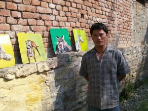 Sign painter from Nepal