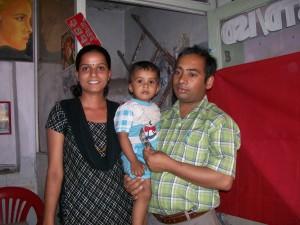 The artist Hari Timesina and family