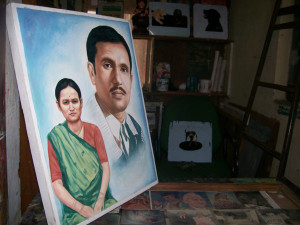 Self portrait of Hari Prasad and wife