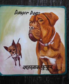 Ellis the Chihuahua and his Dogue de Bordeaux friend, Daisy by Shahi