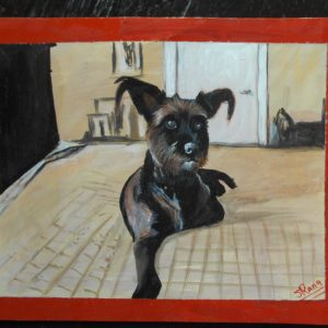 Folk art beware of Terrier sign