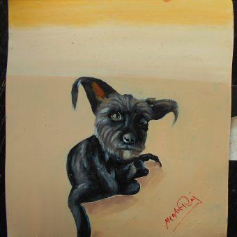 Folk art Beware of Dog sign