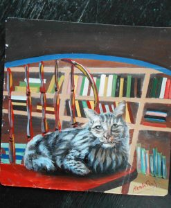 Folk art portrait of a Nepali Cat