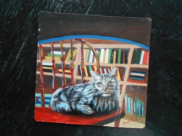 Folk art portrait of a Nepali Cat