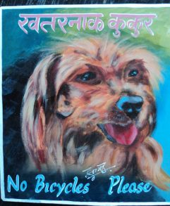 Folk art portrait of a Yorkshire Terrier